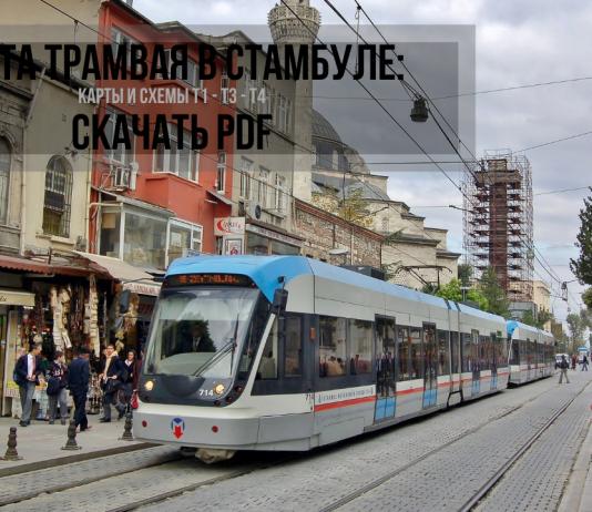 Карта и схема трамвая в Стамбуле