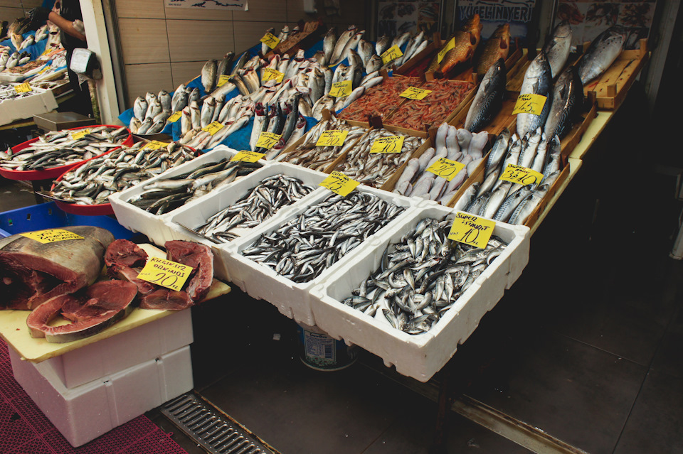 Каракойский рыбный рынок Стамбула