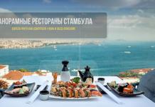 Лучшие рестораны Стамбула с панорамным видом