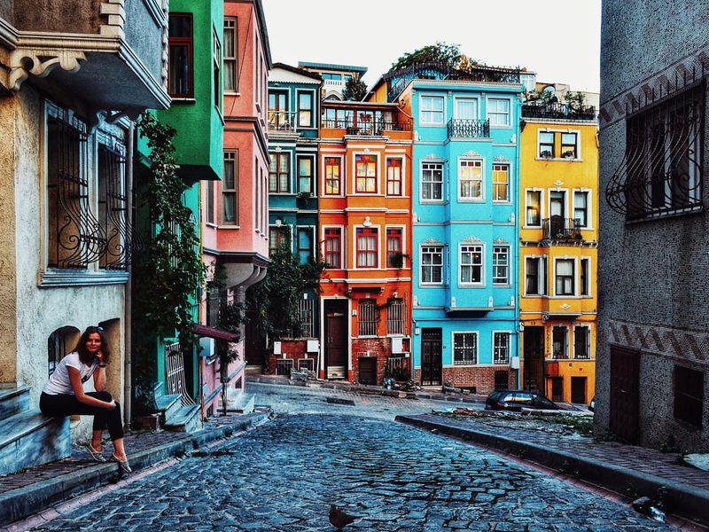 Фотосессия в районе Балат в Стамбуле