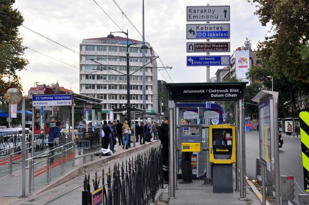 Билеты на трамвай в Стамбуле