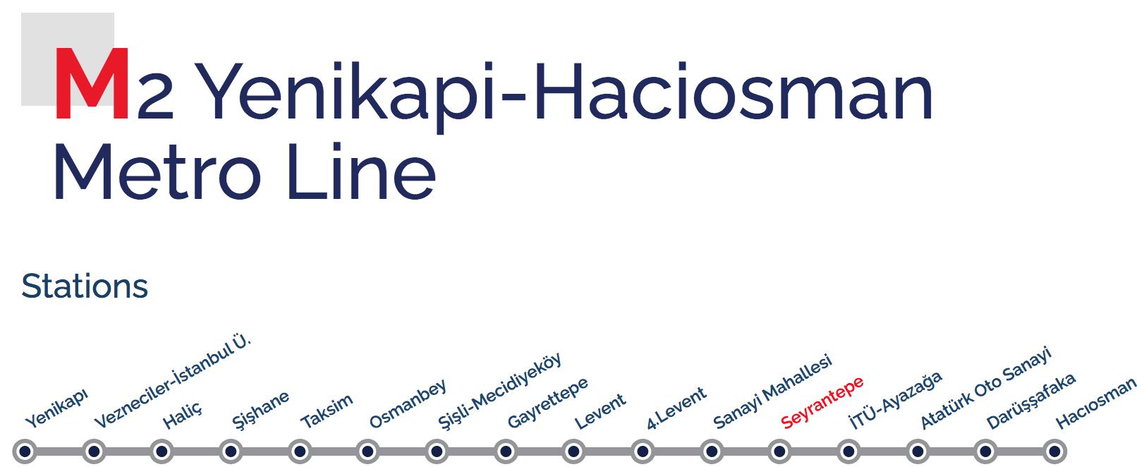 Маршрут метро M2